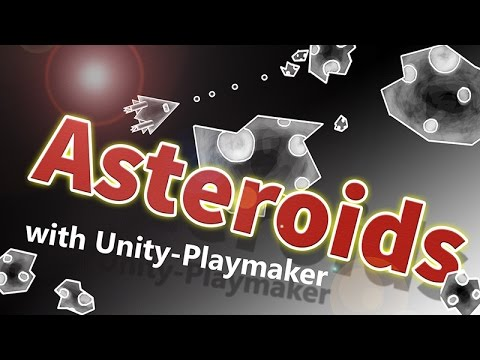 ASTEROIDS with Playmaker (Unity3D) - part 8/9 - Lebensanzeige