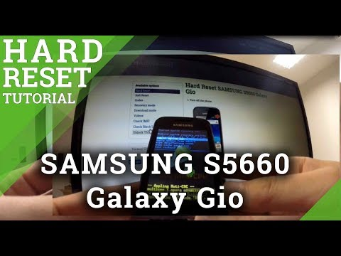 Hard Reset SAMSUNG S5660 Galaxy Gio - How to wipe your phone