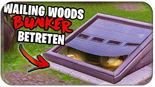 🌳🌲 WAILING WOODS SECRET BUNKER GE-FFNET (fr) Fortnite Saison 4 Deutsch Allemand