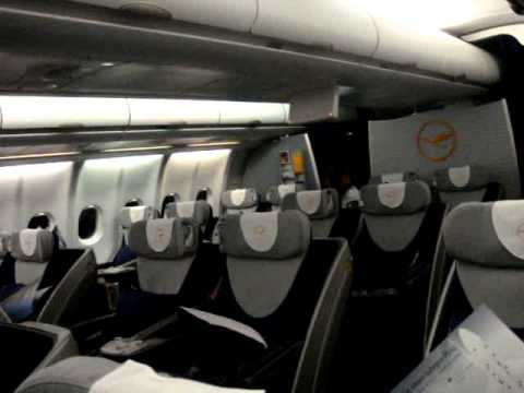 Lufthansa A330 Cabin - Libreville International Airport Gabon - Gabon Trip March 8th 2010