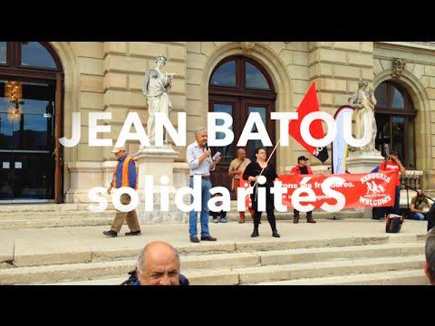 Ouvrons les frontières · Manif + discours de Jean Batou · 12.09.2015