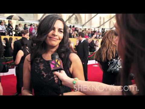 Sarita Choudhury On The Red Carpet At The 2014 SAG Awards - SheKnows Goes To The Shows
