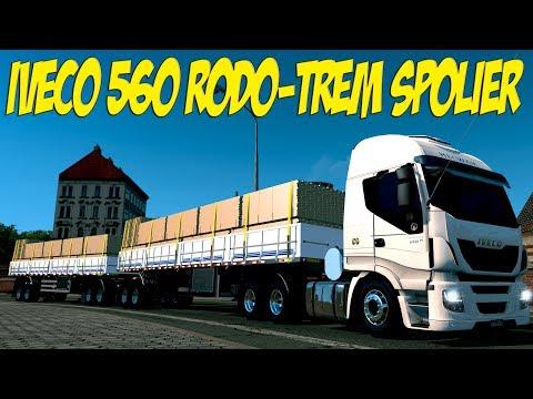 IVECO 560 RODO-TREM - SPOLIER 30 METROS - ETS2/ATS - VOLANTE G27