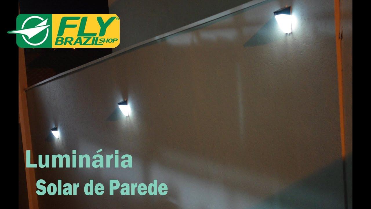 Luminária solar de parede Aplicaç u00e3o YouTube