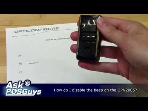 Ask POSGuys - How do I turn off the OPN2005 beep?