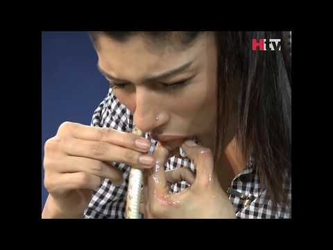Dr Ayesha Hussain Inserts A Snake From Her Nose - Over The Edge - HTV