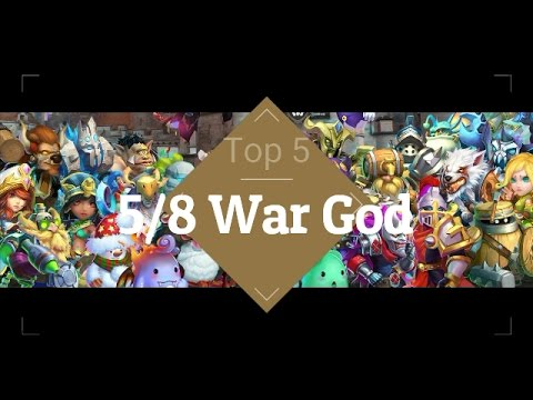Castle Clash War God Top 5
