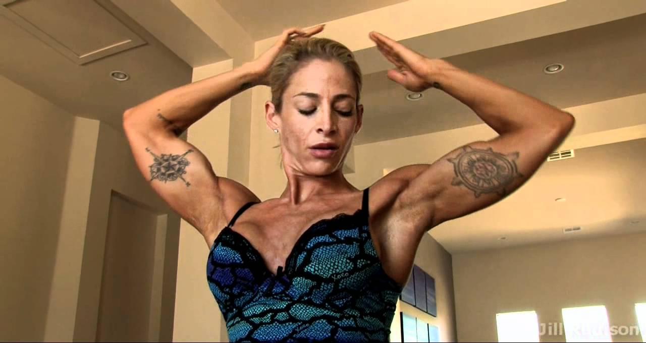 jill rudison flexing her 15 inch biceps youtube