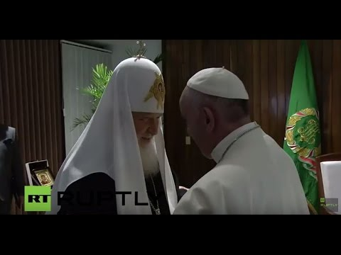 LIVE: Patriarch Kirill meets Pope Francis in Cuba - English Audio