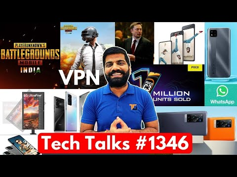 Tech Talks #1346 – PUBG Mobile VPN BAN?, Galaxy A82, Moto Edge S, Honor V40 5G, Tesla $100M, C20