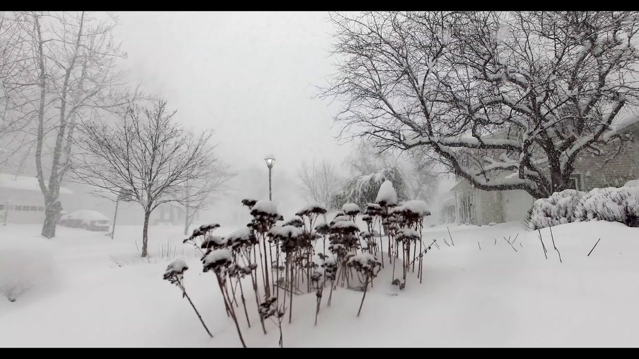 Time Lapse 28 Inches Of Snow In 4 Hours With Aerials Youtube