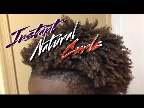 HOW TO : GET INSTANT NATURAL CURLS | FOR NATURAL HAIR