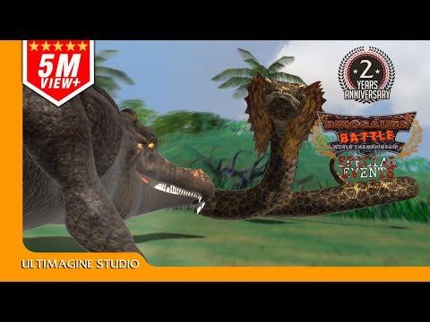 Sarcosuchus vs Titanoboa : Dinosaurs Battle Special