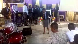bsf futa choir performing held me up  by benjamin dube ft judith sephuma
