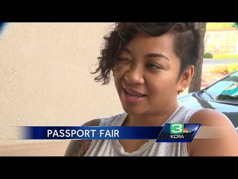 Hundreds Apply For Passports At Elk Grove Fair
