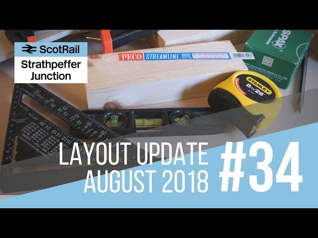 #34 Layout Update: Track Planning, Baseboards & Rolling Stock Cataloguing (August 2018)