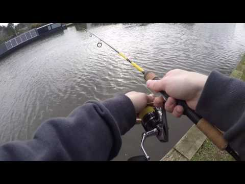 Lure Fishing For Zander On The Canal