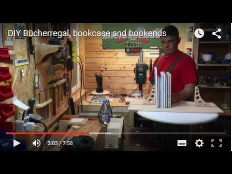 diy b cherregal bookcase and bookends youtube. Black Bedroom Furniture Sets. Home Design Ideas