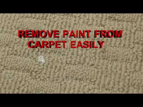 How To Remove Paint From Carpet This Works