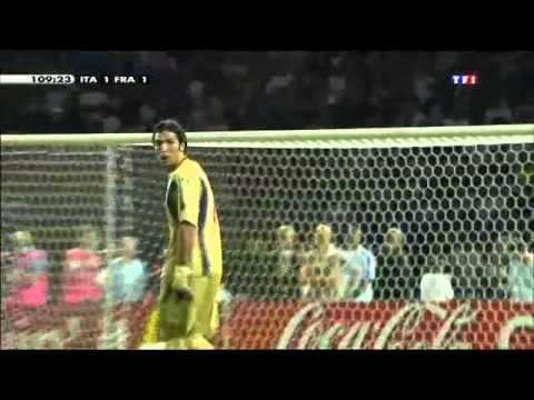 Coup de boule de Zidane sur Italie-France Finale de la coupe du Monde 2006