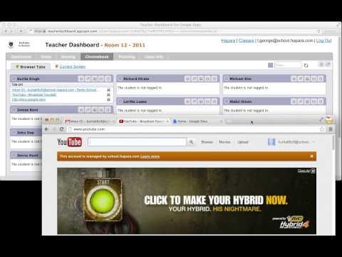 Teacher Dashboard: Remote Control for Chromebooks
