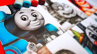 Drawing THOMAS THE TANK ENGINE as Different SCARY MONSTERS 🚂 (FNAF + More!)