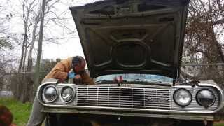 1964 chevy Impala first attempt to start.