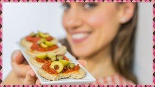 PIZZETTE INTEGRALI  - Pizzette VEGANE cotte in padella - Ricetta