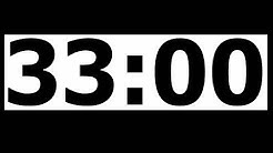 33 Minute Countdown Timer with Alarm