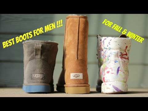 BEST BOOTS FOR MEN FOR FALL AND WINTER !!!! ( PLUS ON FOOT REVIEW ) Timberlands and Uggs