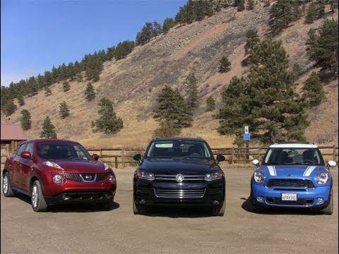2017 Mini Countryman Vs Nissan Juke Volkswagen Touareg Mashup Off Road Review You
