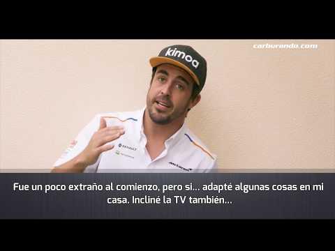 Alonso a 9 grados de inclinación (10-04-2019)