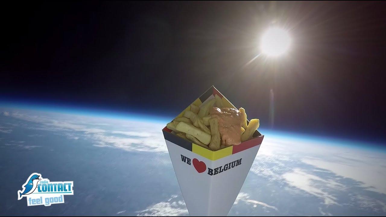 Le 1er paquet de frites belges dans l 39 espace youtube - Les sinsin de l espace ...