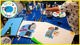 Thomas and Friends 🎨PAINTING🎨 with Izzy's Toy Time! Fun Toy Trains for Kids!