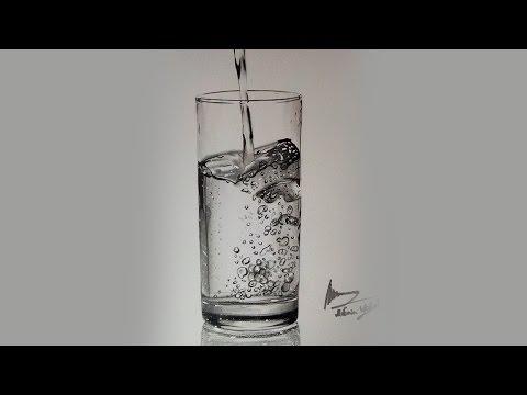 Karakalem Su Bardağı Çizimi