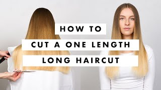 One Length Haircut Tutorial -  MIG Training