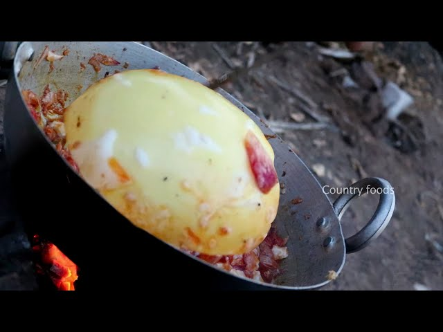 BIG Emu Egg Curry | Healthy Emu Eggs | Delicious Emu Eggs Curry