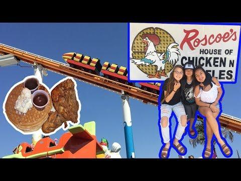 Roscoe's Chicken N Waffles | Santa Monica Pier W/ Family | KidDomoTV Vacation Vlog #2