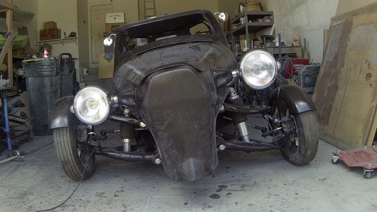Electric Rat Rod Trike Air Suspension