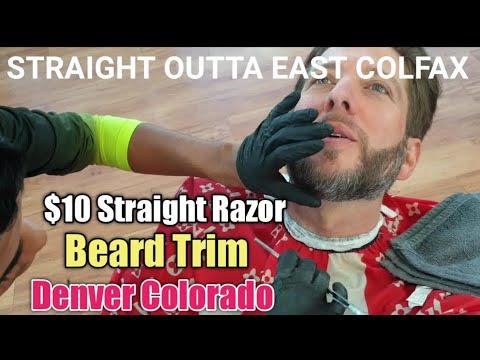 💈$10 STRAIGHT RAZOR Beard Trim In DENVER COLORADO By MEXICAN-AMERICAN Barber At Barberia Tanchin