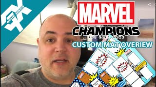 Marvel Champions Game Mat overview