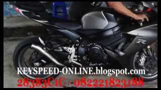 Knalpot Suzuki GSX-R 750 Akrapovic Gp Megaphone Small By Key Speed (Testimoni Konsumen)*