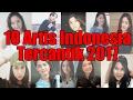 Daftar 10 Artis Cantik Indonesia di 2017