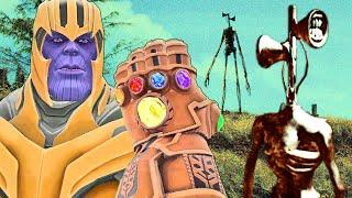 Can Thanos' INFINITY GAUNTLET kill SIREN HEAD in Gmod?