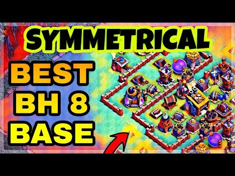 BEST BH8 BASE LAYOUT WITH REPLAY | BUILDER HALL 8 DEFENSE BASE DESIGN IN COC | CLASH OF CLANS