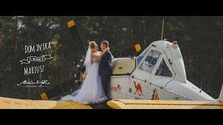 Samolotem do ślubu Teledysk ślubny Dominiki i Mariusza Restauracja Kryształowa Ińsko DJ Szewczyk