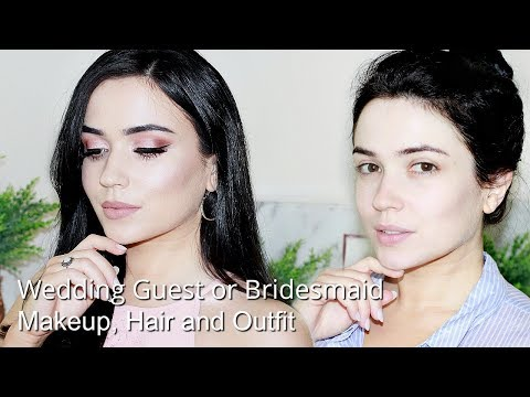Wedding Guest GRWM Makeup Hair & Outfit
