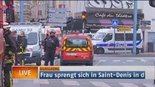 Anti-Terror-Einsatz in Paris: Frau sprengt sich in Saint-Denis in die Luft