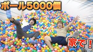 5000個のボールで部屋を埋め尽くしてプール作ってみた!