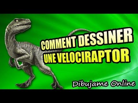 comment dessiner un velociraptor   comment dessiner un velociraptor etape par etape - YouTube